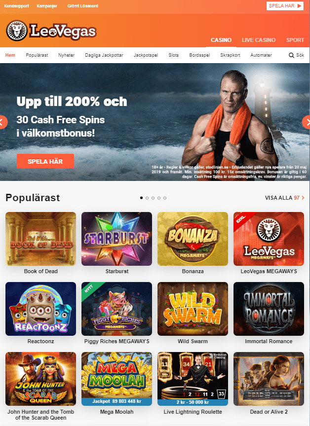 Casinospel LeoVegas Casino
