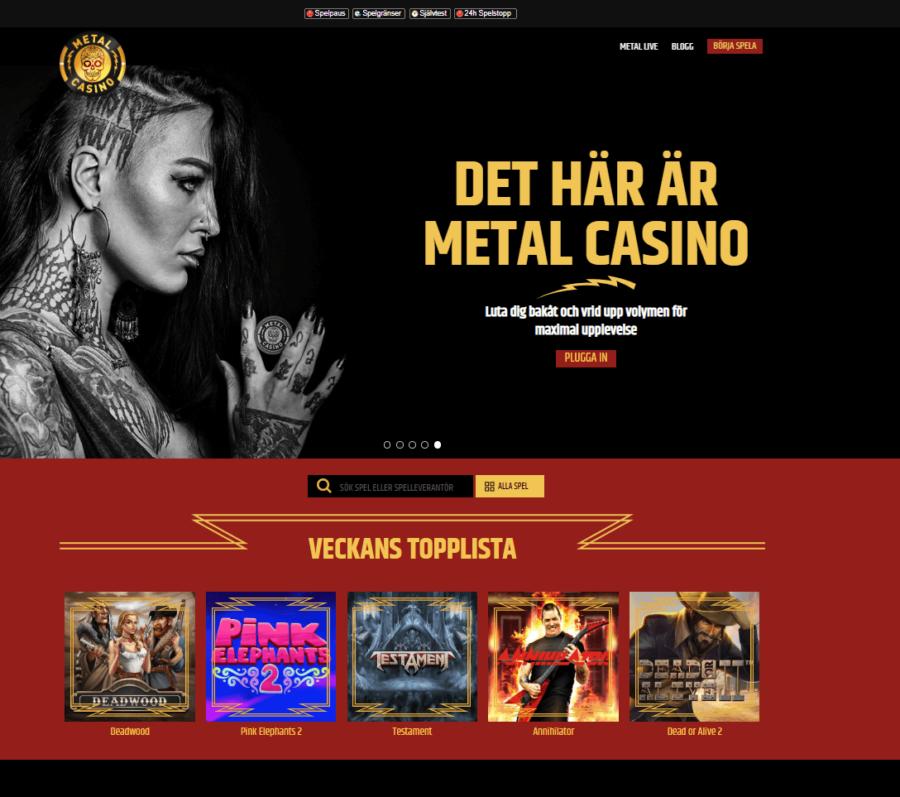 Casinospel Metal Casino