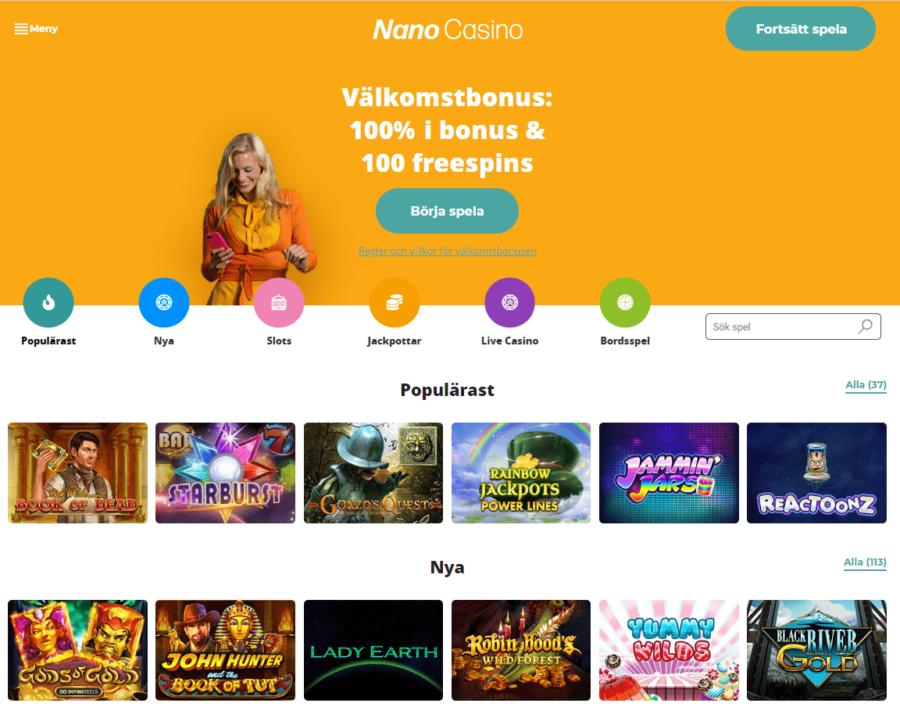 Casinospel Nano Casino