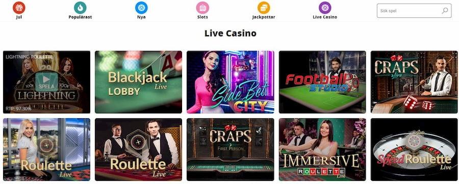 Nano Casino spelutbud och spelleverantörer