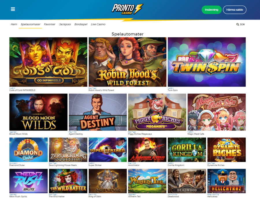 Casinospel Pronto Casino