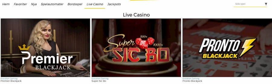 Pronto Casino spelutbud och spelutvecklare