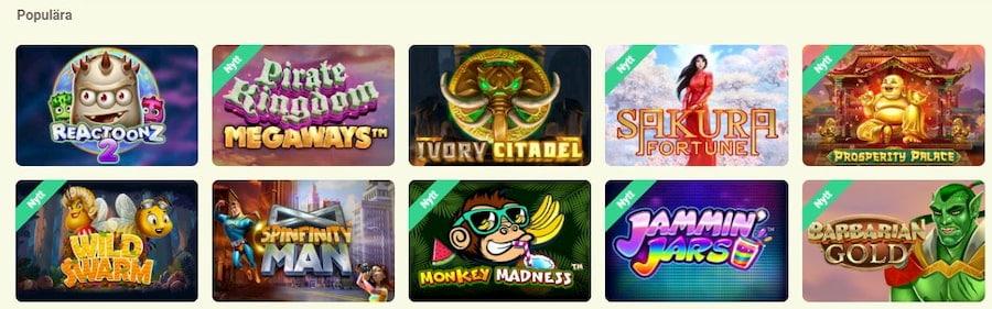 Spelutbudet på yoyo casino