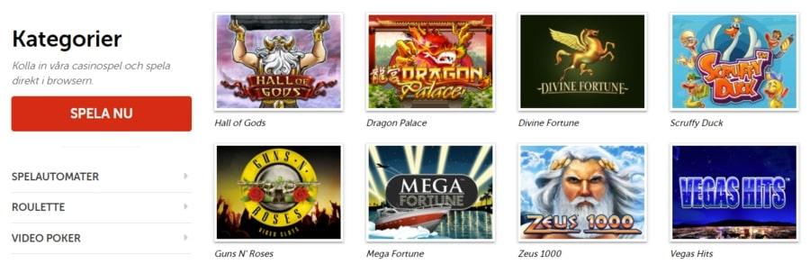 Spelutbudet hos PlayMillion Casino