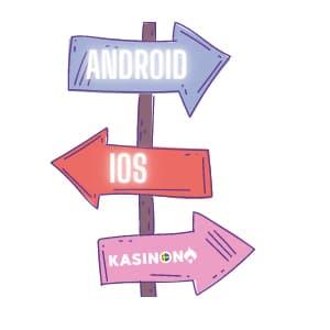 Mobilcasino - android eller ios